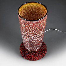 Summer Solstice (Studio Prototype) Large Table Lamp by Eric Bladholm (Art Glass Table Lamp)
