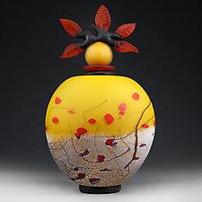Summer Sunset (Experimental Studio Sample) by Eric Bladholm (Art Glass Vessel)