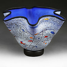 Azure Adrenaline by Eric Bladholm (Art Glass Vessel)