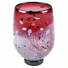 Royal Ruby Studio Sample by Eric Bladholm (Art Glass Vase)