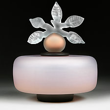 Novi Zivot Mali (New Life Petite) Melon Cream Satin Sphere by Eric Bladholm (Art Glass Vessel)