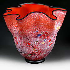 Cadmium Carnival (Studio Sample) by Eric Bladholm (Art Glass Vase)