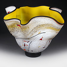Luminescent Lemon by Eric Bladholm (Art Glass Vase)
