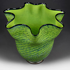 Grasshopper Gem Studio Sample by Eric Bladholm (Art Glass Vase)