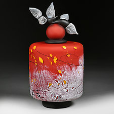 Litnye Zhyttya (Summer Life) by Eric Bladholm (Art Glass Vessel)