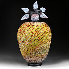 Litnya Vyshnya (Summer Cherries) Branch Vessel Prototype by Eric Bladholm (Art Glass Vessel)