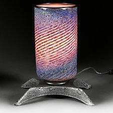 Lilac Latitude Lamp  (Studio Prototype) by Eric Bladholm (Art Glass Table Lamp)