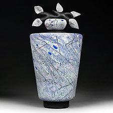 Snizhna Vesna (Snowy Spring) by Eric Bladholm (Art Glass Vessel)