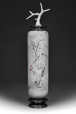 Zimska Jabuka (Winter Apple) Tall Cylinder by Eric Bladholm (Art Glass Vessel)