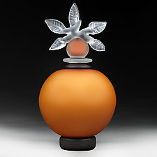 Novi Zivot Luksuz (New Life Deluxe) Topaz Satin Sphere by Eric Bladholm (Art Glass Vessel)