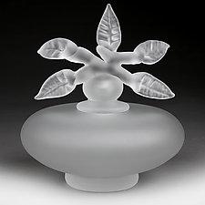Novi Zivot (New Life) Satin Clear Low Sphere (Studio Prototype) by Eric Bladholm (Art Glass Vessel)