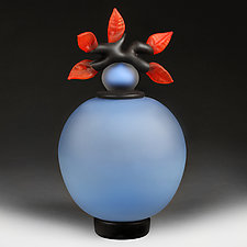Novi Zivot (New Life) Satin Sapphire (Experimental Color Prototype) by Eric Bladholm (Art Glass Vessel)