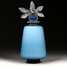 Novi Zivot Luksuz (New Life Deluxe) Azure Satin Tower by Eric Bladholm (Art Glass Vessel)