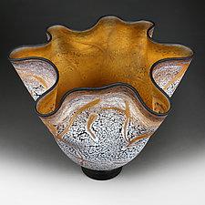 Sienna Silhouette (Studio Sample) by Eric Bladholm (Art Glass Vessel)