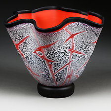 Fissure Fire Experimental Prototype by Eric Bladholm (Art Glass Vessel)