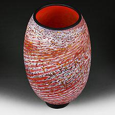 Zymovyy Urozhay (Winter Harvest) Prototype Vase by Eric Bladholm (Art Glass Vase)