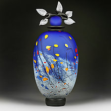 Byzantine Blues by Eric Bladholm (Art Glass Vessel)