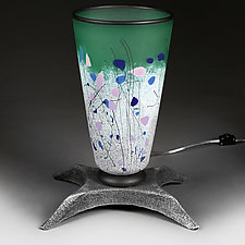 Forest Flowers (Large Lamp Studio Protoype) by Eric Bladholm (Art Glass Table Lamp)