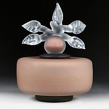 Novi Zivot Mali (New Life Petite) Taupe Satin Cylinder by Eric Bladholm (Art Glass Vessel)