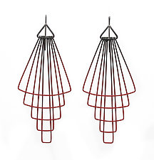 Long Deco Tier Earrings by Jera Lodge (Silver & Steel Earrings)