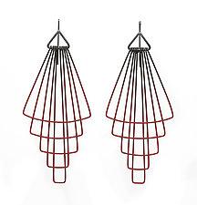 Long Deco Tier Earrings by Jera Lodge (Silver & Steel Earrings)