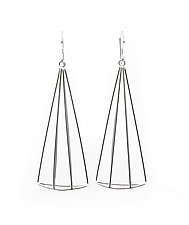 Wide Spire Earrings by Jera Lodge (Silver Earrings)