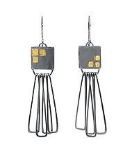 Square Stamped Earrings by Jera Lodge (Gold & Silver Earrings)