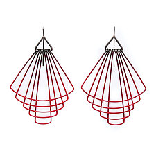 Deco Fan Earrings by Jera Lodge (Silver & Steel Earrings)