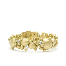 Coco Band with Diamonds by Marian Maurer (Gold & Stone Ring)
