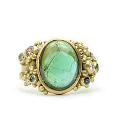 Coco Ring with Tourmaline Cabochon by Marian Maurer (Gold & Stone Ring)