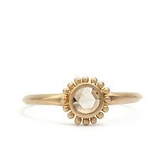 New Palace Ring with Champagne Diamond by Marian Maurer (Gold & Stone Ring)