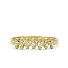 Ariel Diamond Band by Marian Maurer (Gold & Stone Ring)