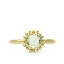New Palace Ring with Green Sapphire by Marian Maurer (Gold & Stone Ring)