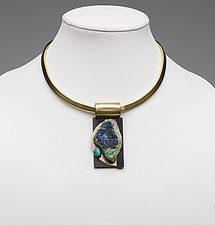 Art Necklace 311 by Shirley Wagner (Mixed-Media Necklace)