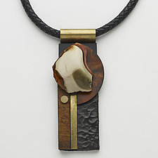 Art Necklace 140 by Shirley Wagner (Mixed-Media Necklace)