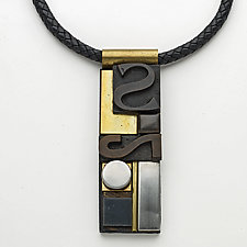 Art Necklace 110 by Shirley Wagner (Mixed-Media Necklace)