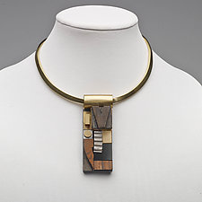 Art Necklace 126 by Shirley Wagner (Mixed-Media Necklace)