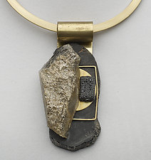 Art Necklace 330 by Shirley Wagner (Mixed-Media Necklace)