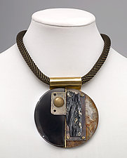 Art Necklace 339 by Shirley Wagner (Mixed-Media Necklace)