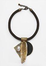 Art Necklace 400 by Shirley Wagner (Mixed-Media Necklace)