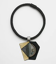 Art Necklace 250 by Shirley Wagner (Mixed-Media Necklace)