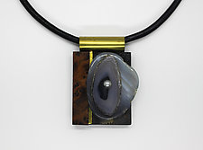 Art Necklace 76 by Shirley Wagner (Mixed-Media Necklace)