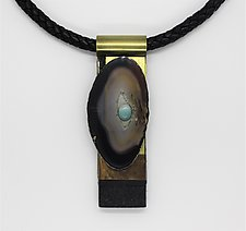 Art Necklace 75 by Shirley Wagner (Mixed-Media Necklace)