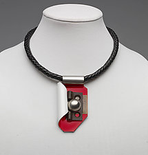 Art Necklace 382 by Shirley Wagner (Mixed-Media Necklace)