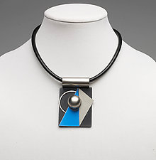Art Necklace 233 by Shirley Wagner (Mixed-Media Necklace)