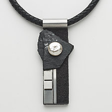 Art Necklace 123 by Shirley Wagner (Mixed-Media Necklace)