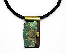 Art Necklace 309 by Shirley Wagner (Mixed-Media Necklace)