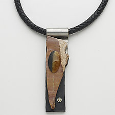 Art Necklace 167 by Shirley Wagner (Mixed-Media Necklace)