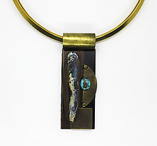 Art Necklace 332 by Shirley Wagner (Mixed-Media Necklace)