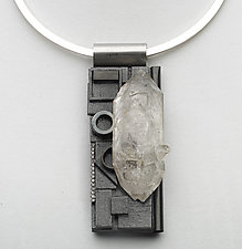 Art Necklace 399 by Shirley Wagner (Mixed-Media Necklace)